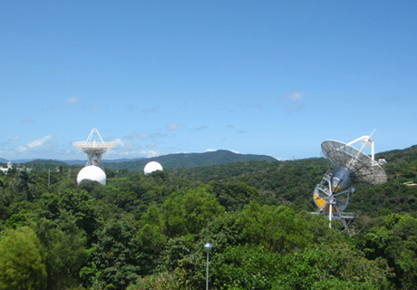 民宿から近い!JAXA沖縄宇宙通信所