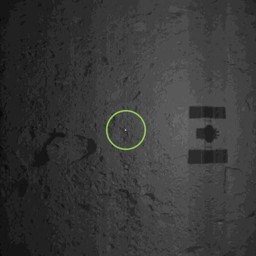 リュウグウ着地後のターゲットマーカの画像
