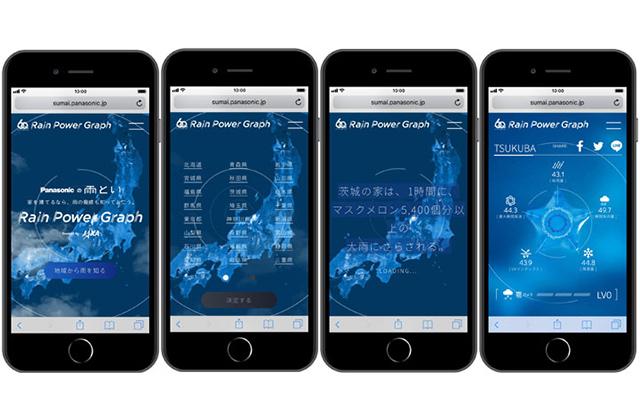地球観測衛星による雨及び雹データ等を活用したパナソニック社サイト「Rain Power Graph」が公開されました