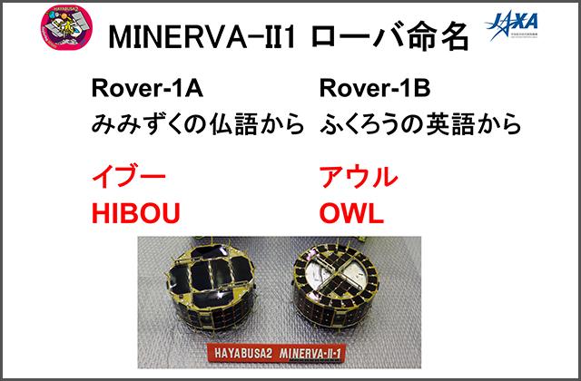 [はやぶさ2プロジェクト]MINERVA-II1ローバの命名について