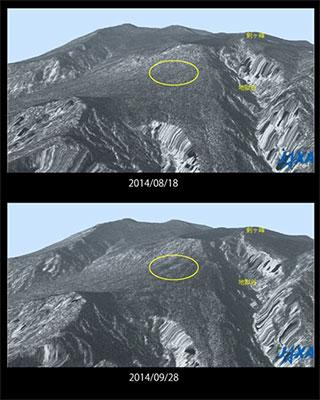 だいち2がとらえた御嶽山噴火