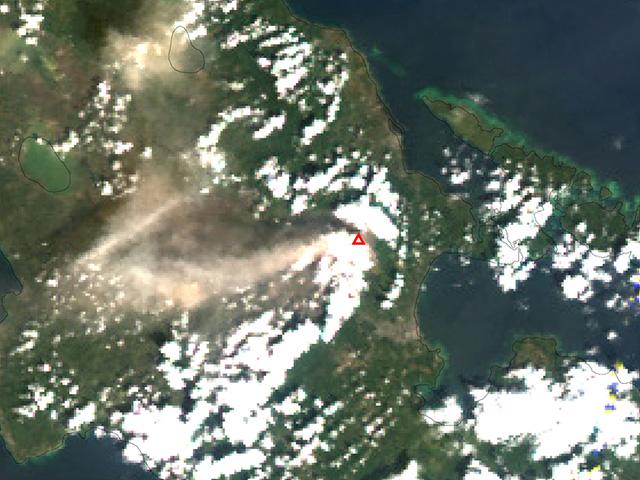 「しきさい」、フィリピン・マヨン火山の噴火を観測