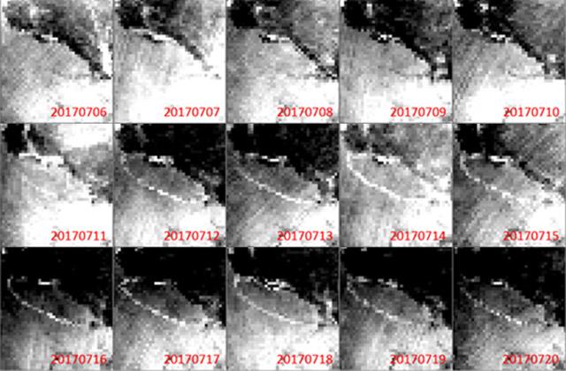 「しずく」南極氷床棚氷からの巨大氷山分離を観測