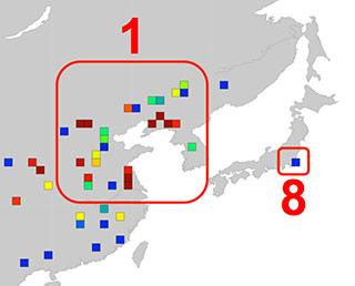日本でのCO2濃度、「いぶき」観測データと排出量データが一致