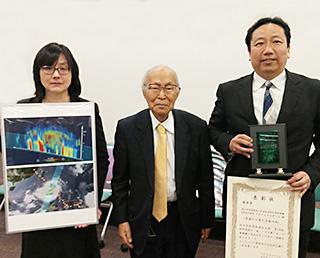 GPM/DPRパネル「宇宙から見た台風の雨」が「科学技術の『美』パネル展」優秀賞を受賞
