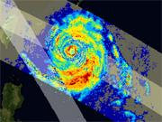 人工衛星が捉えた台風8号(EORC)