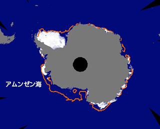南極域の海氷面積が観測史上最小を記録