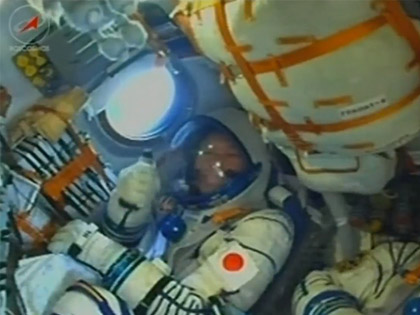 金井宇宙飛行士が搭乗するソユーズ宇宙船が打ち上げられました