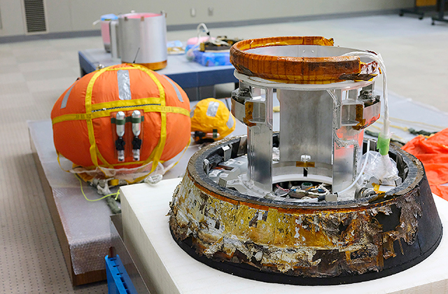 小型回収カプセル本体などが、筑波宇宙センターにて記者公開されました!